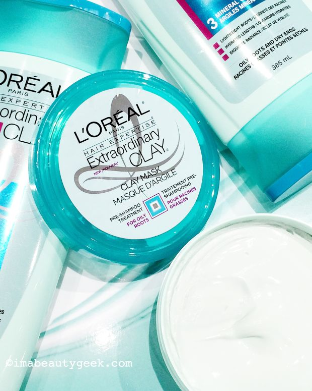 L'Oreal Paris Extraordinary Clay hair care Canada