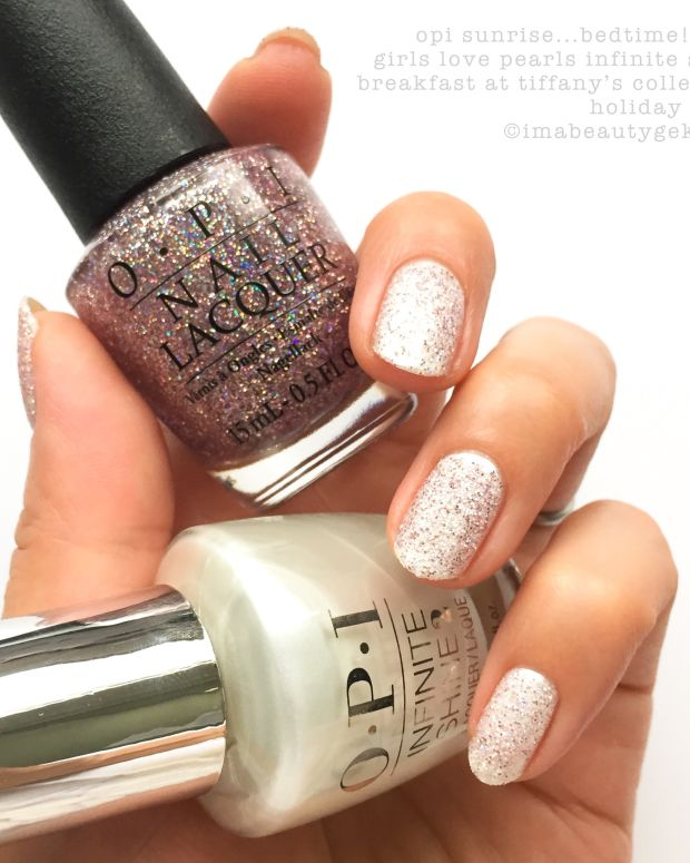 OPI Breakfast at Tiffanys Infinite Shine Collection Swatches Holiday 2016