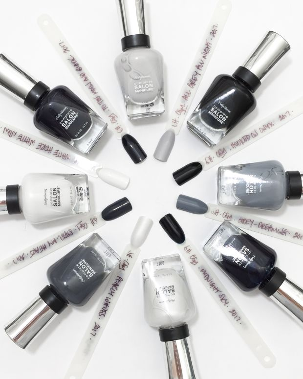 Sally Hansen Black to Basics Collection Swatches Fall 2017