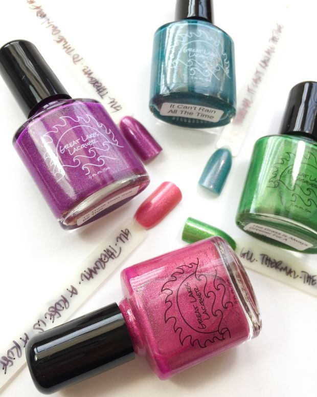 Great Lakes Lacquer Thermal Nail Polish Collection Notes to Self Swatches