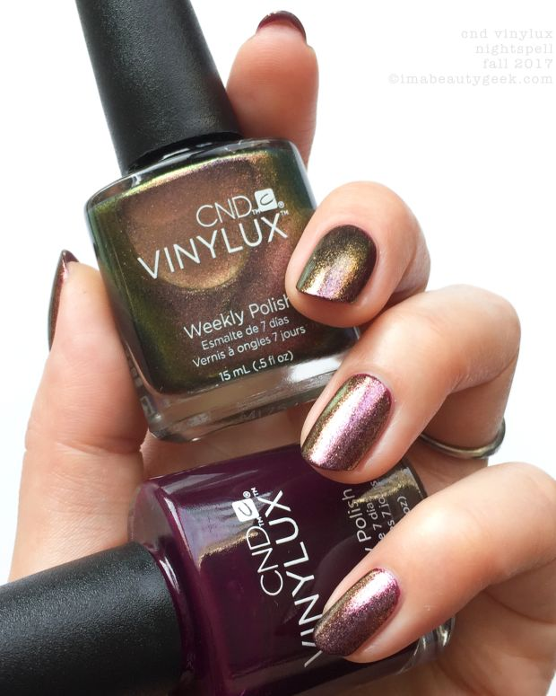 CND Vinylux Nightspell Collection Swatches Review Fall 2017