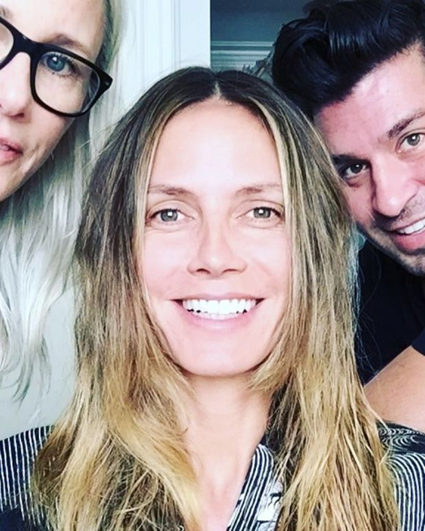 Makeup artist Linda Hay, Heidi Klum, hairstylist Andy Le Compte