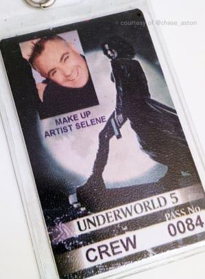 Kate Beckinsale makeup Underworld Blood Wars_Chase Aston makeup artist crew badge.jpg