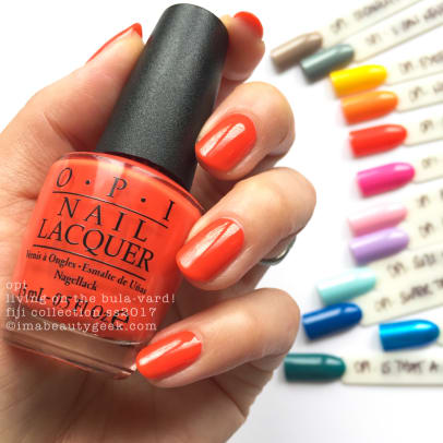 OPI Living on the Bulavard_OPI Fiji Collection Swatches Review 2017