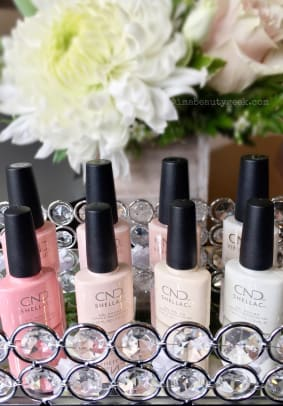CND Yes I Do bridal collection Shellac shades