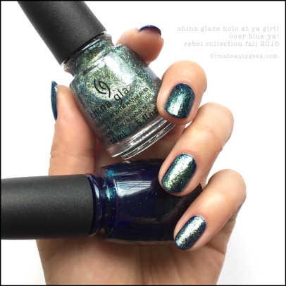 China Glaze Holo At Ya Girl over Blue Ya_China Glaze Rebel Collection Swatches 2016.jpg