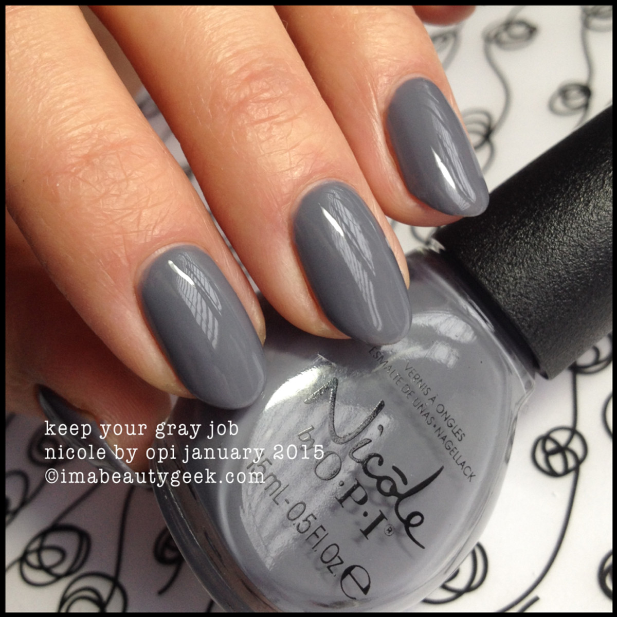 Nicole by OPI Keep Your Gray Job