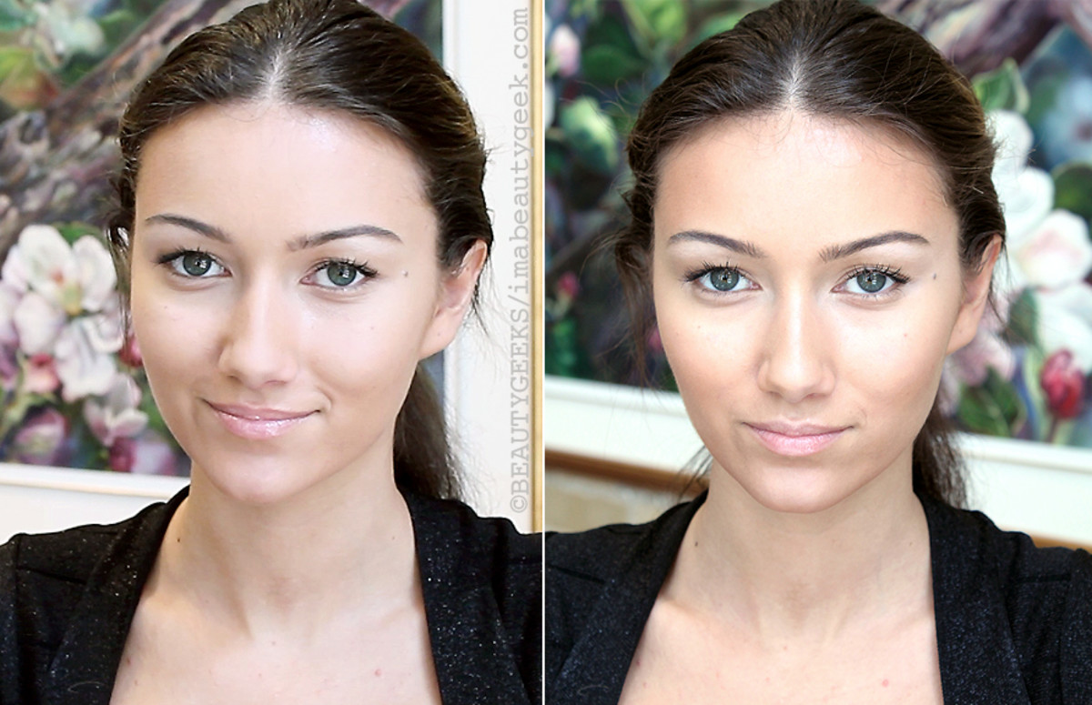 Highlight and Contour and Avoid Looking Like a Bearded Lady_before after