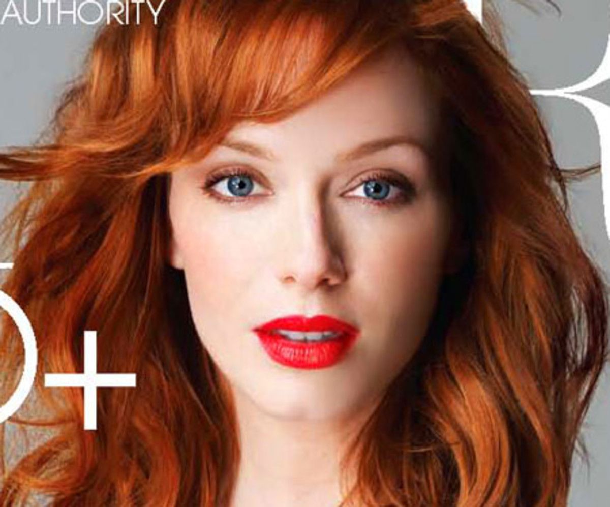 F Is For Fiery Flame Haired Christina Hendricks Rocks Red
