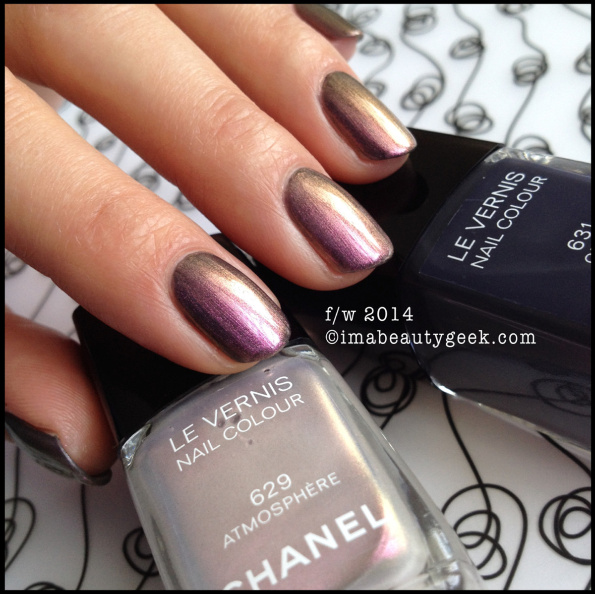 Chanel Atmosphere 629 w Chanel Orage 631