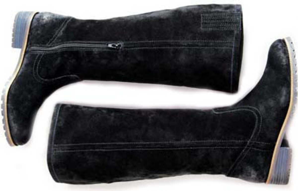 Marks Black Suede Boots_$139.99