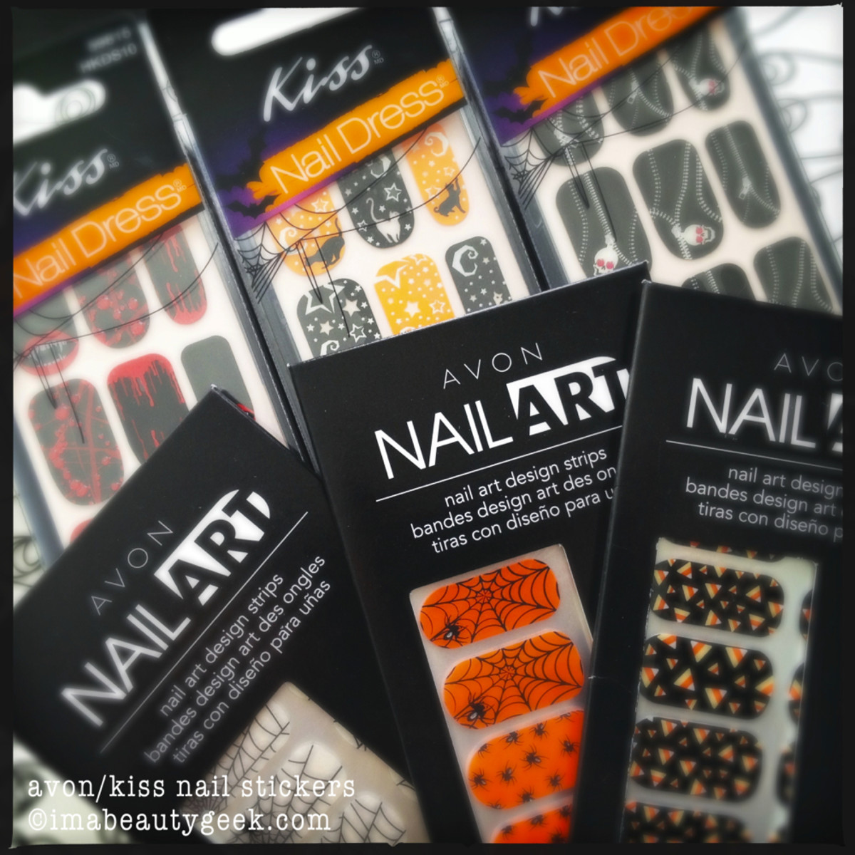 halloween nails for everyone 2 Avon n Kiss Nail Stickers