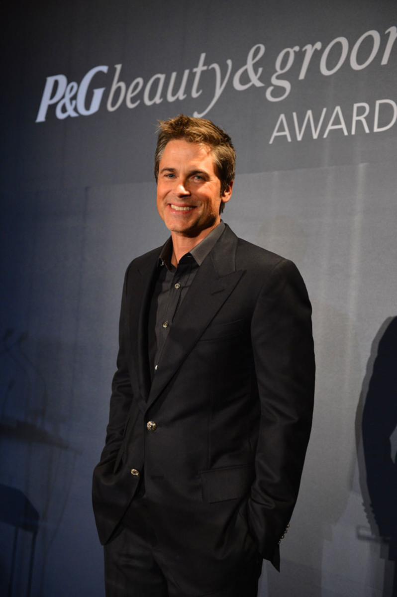 Rob Lowe onstage at the 2012 P&G Beauty & Grooming Awards in Toronto