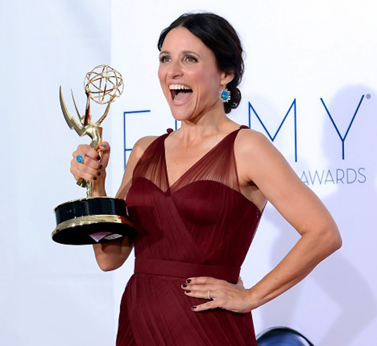Julia Louis-Dreyfus_Essie Berry Hard_Emmy Award winner 2012