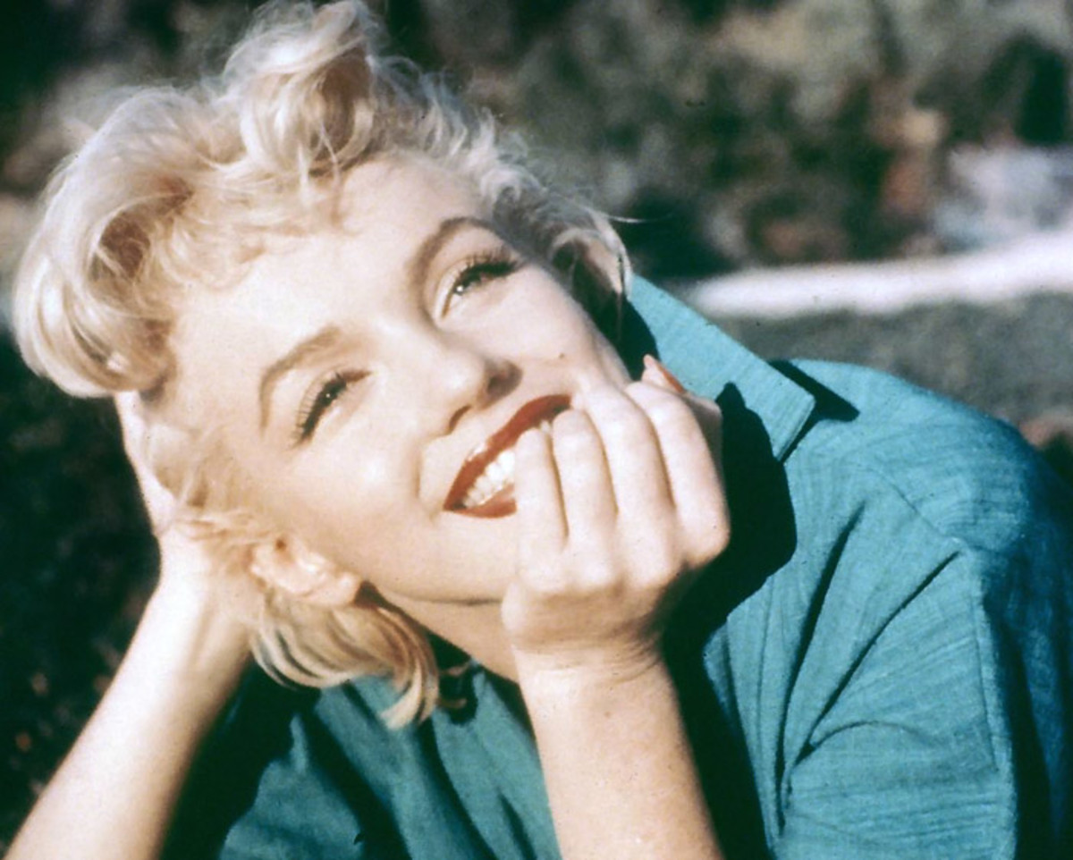 Brow bleaching: don't necessarily match your hair -- you still need brows to have enough presence to add structure to your face. This is a good contrast on Marilyn Munroe.