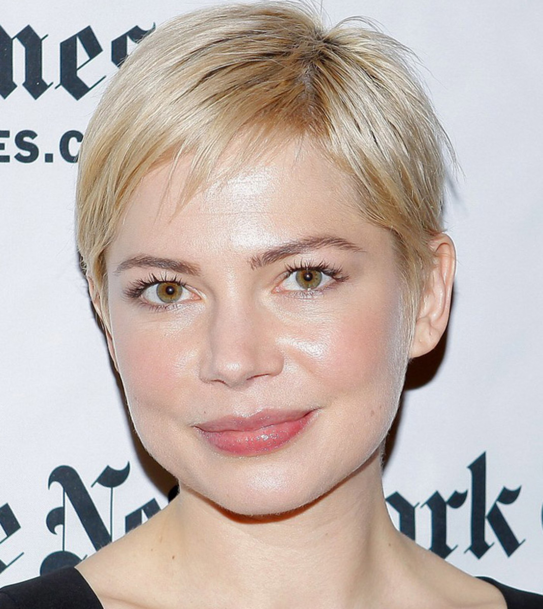 Brow bleaching: Michelle Williams has a great balance between hair and brow colour. Lighter might make her brows seem invisible.