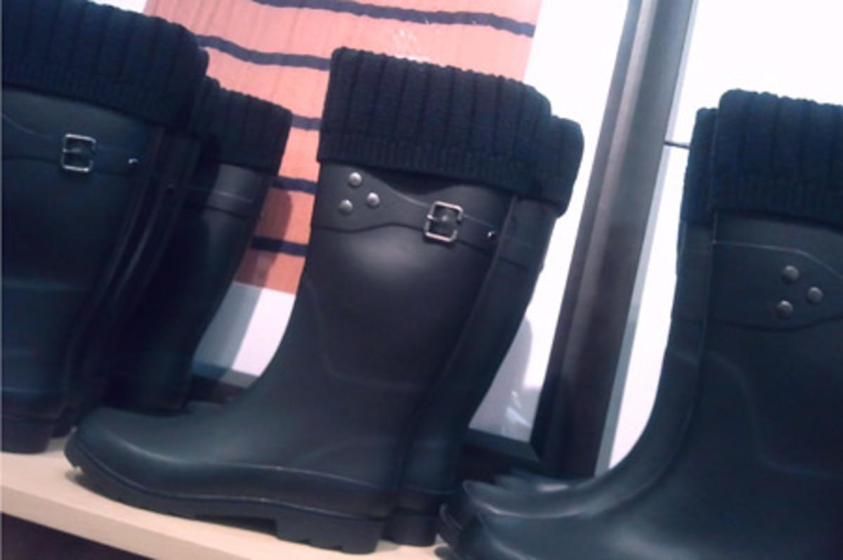 Gap Knit-Cuff Rainboots