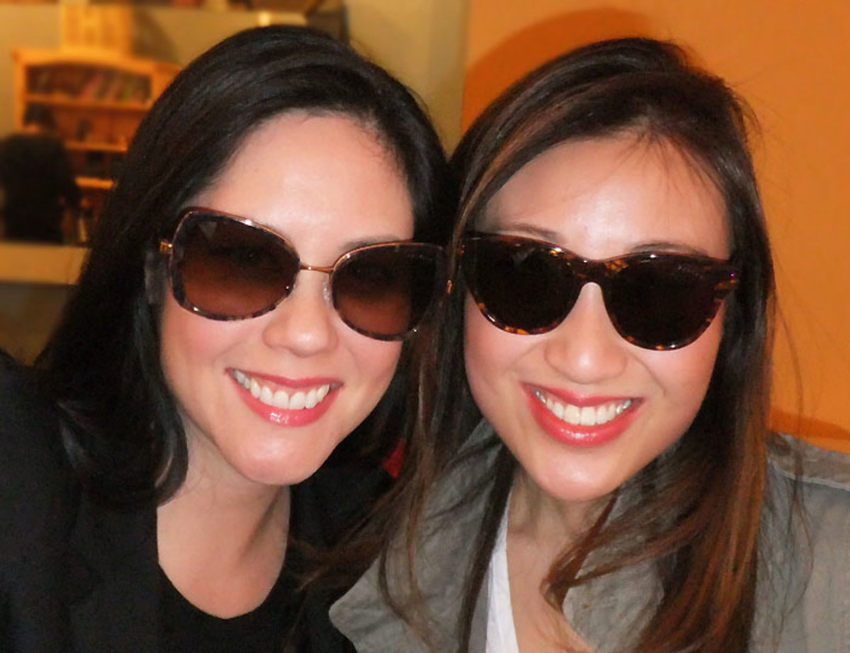 On the right: Kathy Tran, founder and designer of KayTran Eyewear