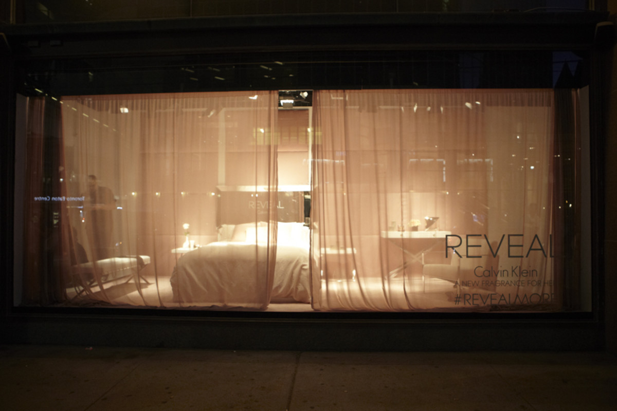 Reveal Calvin Klein Hudson's Bay window