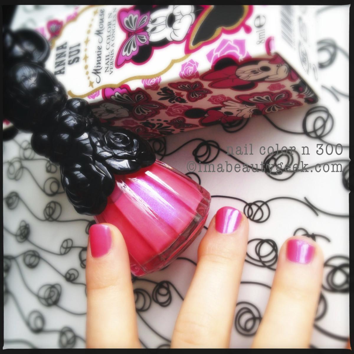 Anna Sui Minnie Mouse nail polish