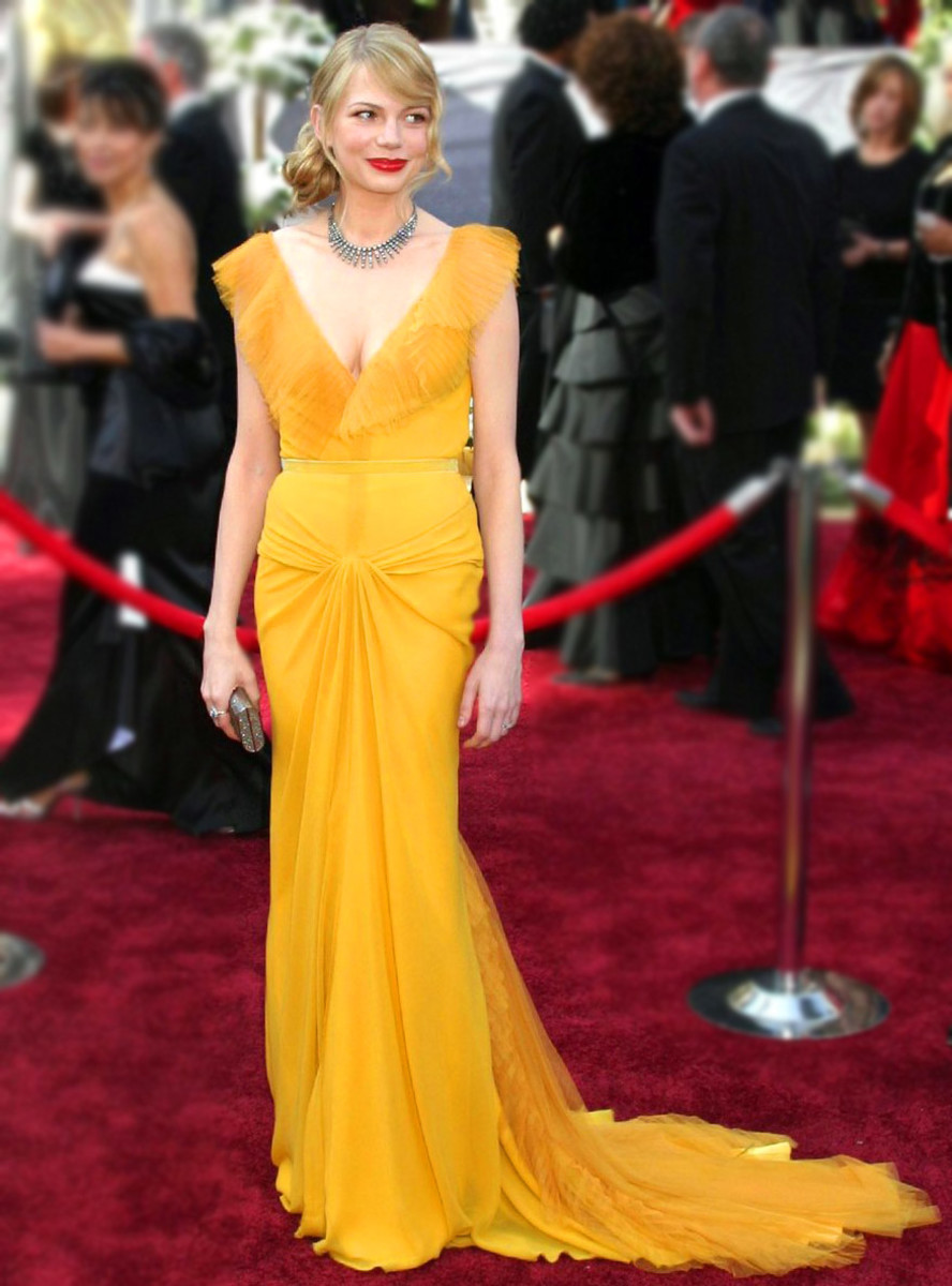michelle_williams_yellow_vera wang_2006 Oscars