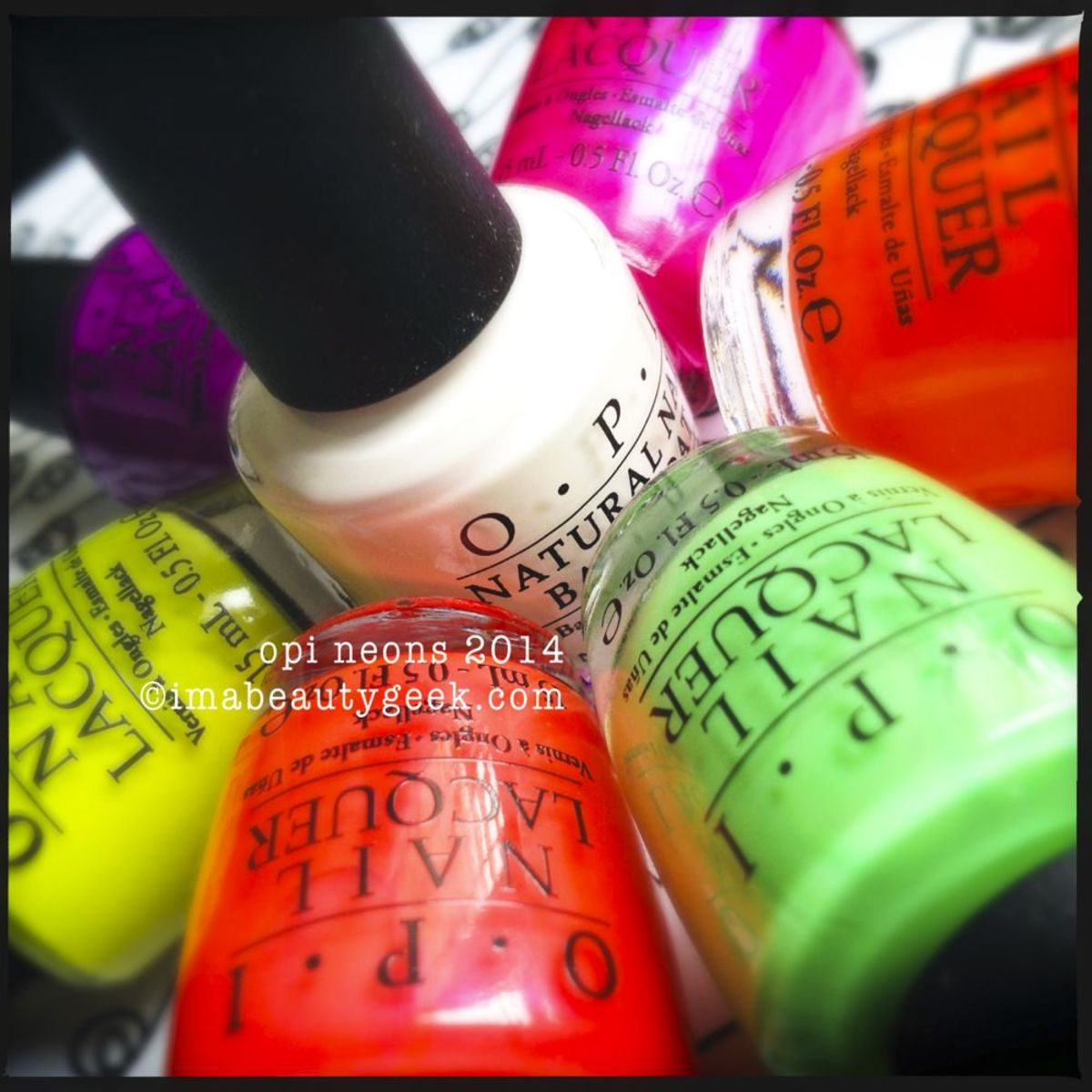 OPI Neons 2014: Your First Complete Collection Swatches - Beautygeeks