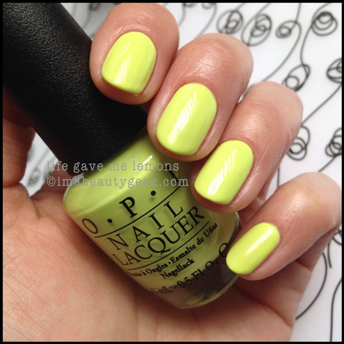 OPI Neon Life Gave Me Lemons Neon 2014