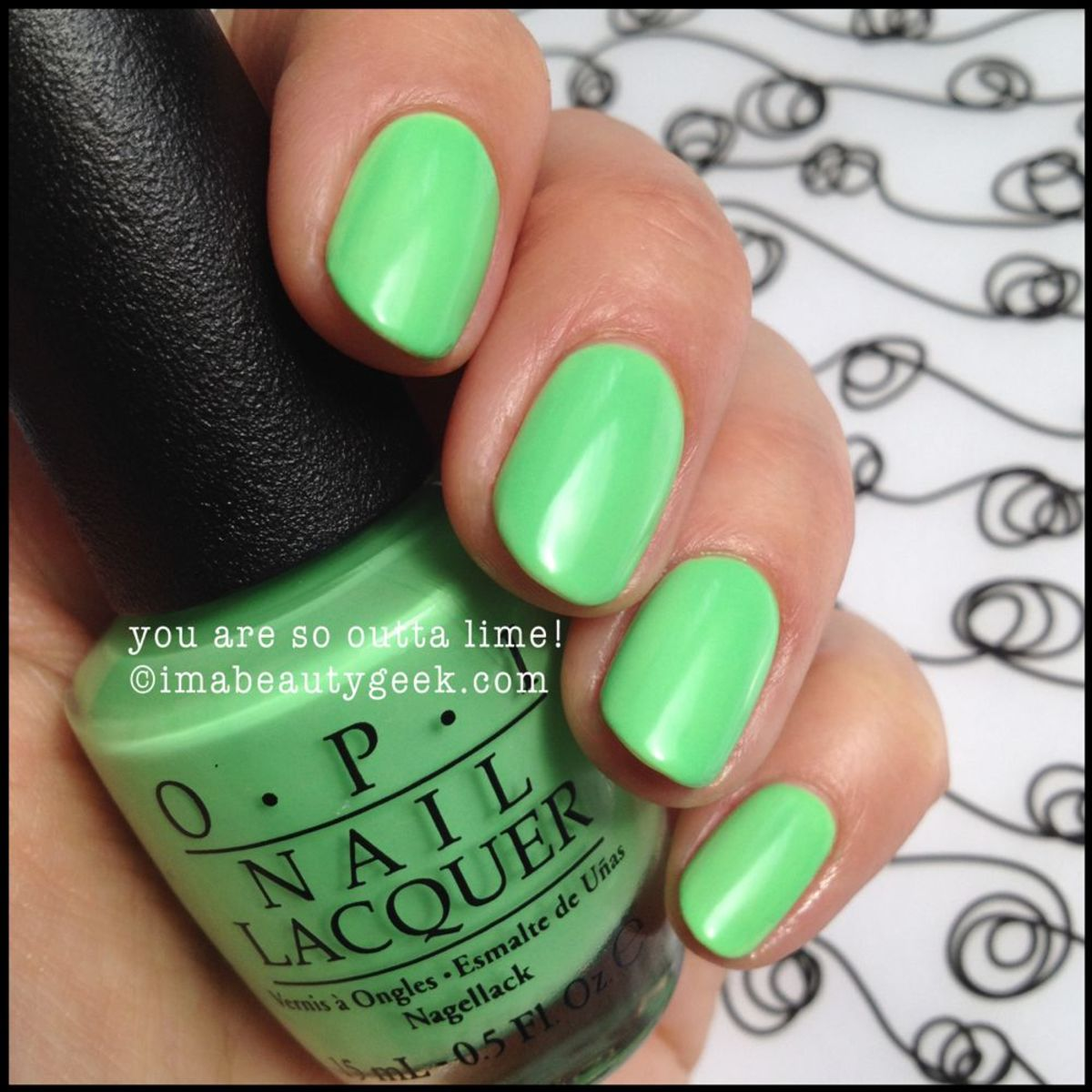 OPI Neon You Are So Outta Lime Neon 2014