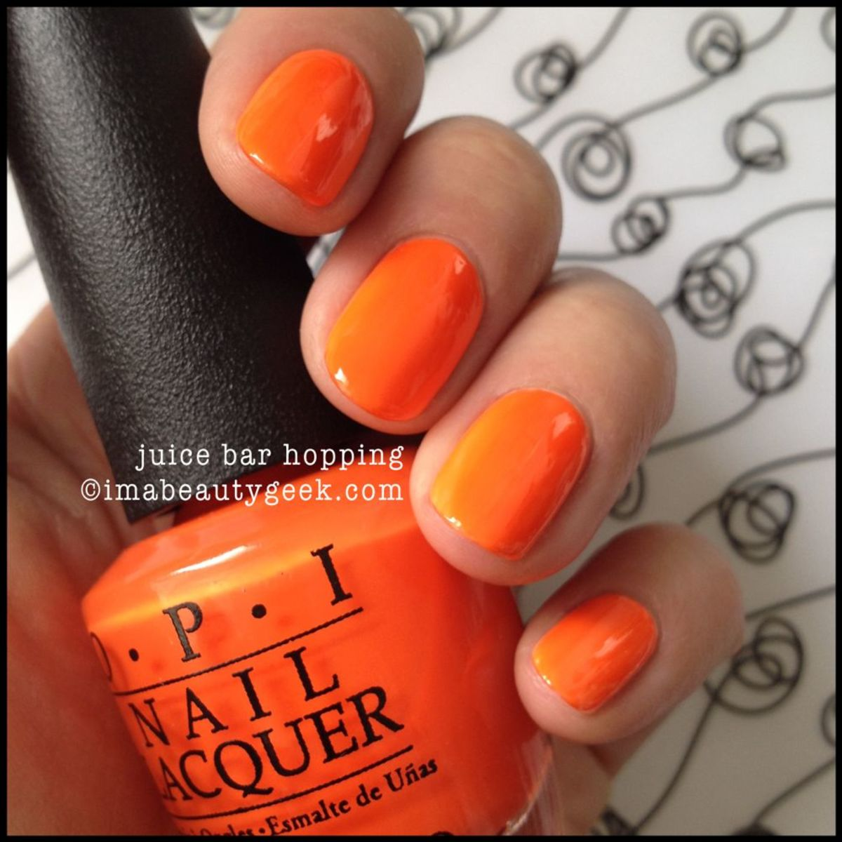 OPI Neon Juice Bar Hopping OPI Neon 2014