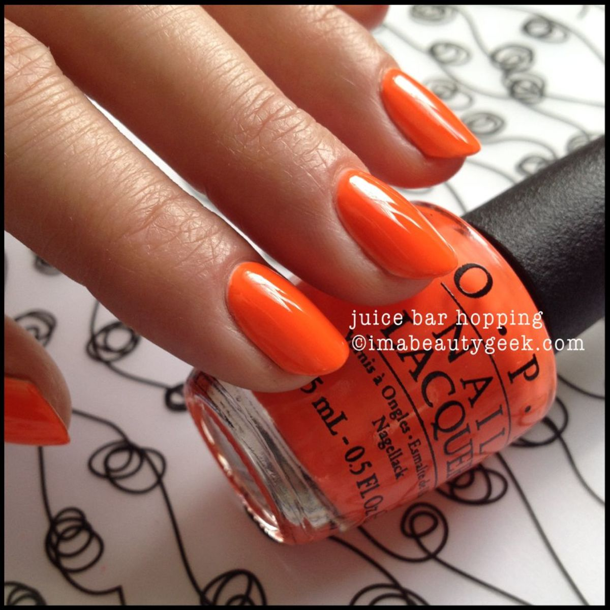 OPI Juice Bar Hopping OPI Neon 2014