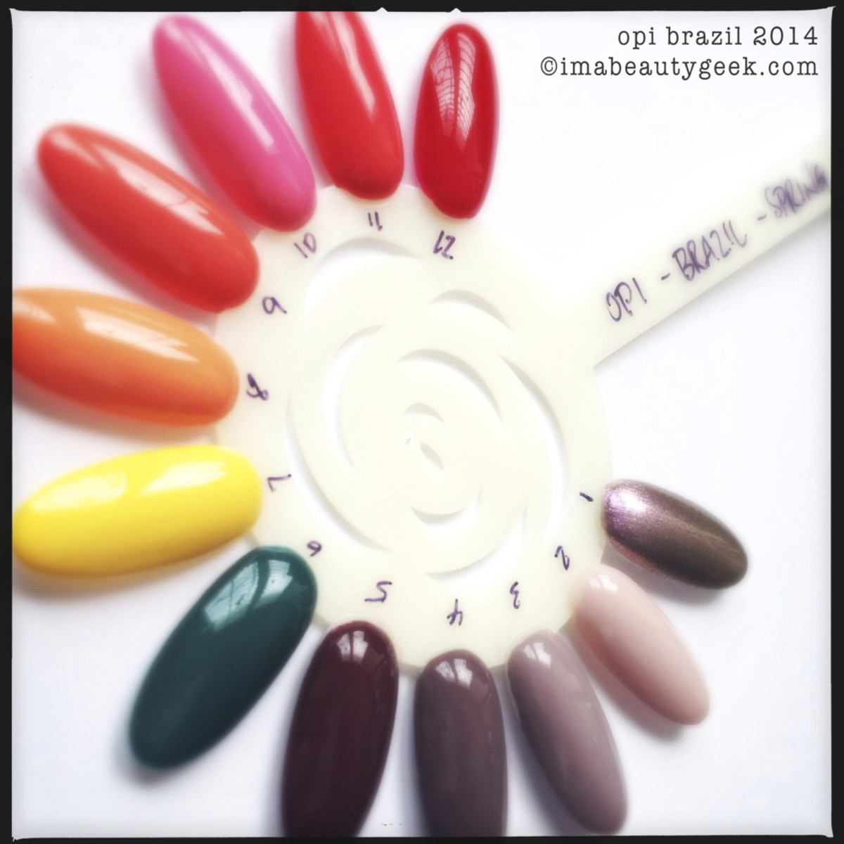 OPI Brazil Swatch Wheel