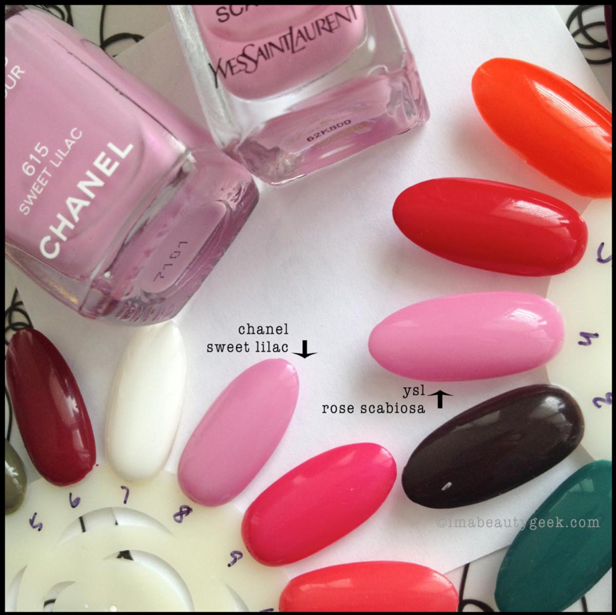 Chanel Sweet Lilac vs YSL Rose Scabiosa