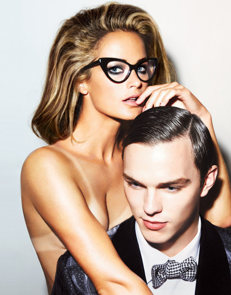 How to fix tan lines, like Carolyn Murphy had to after this Tom Ford eyewear campaign with actor Nicholas Hoult
