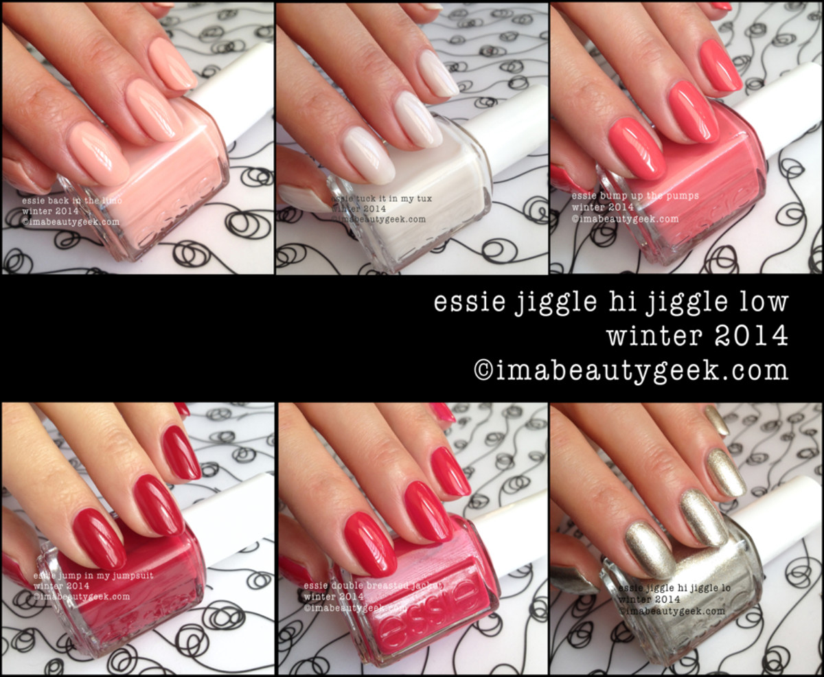 Essie Jiggle Hi Jiggle Low Swatches - Essie winter 2014