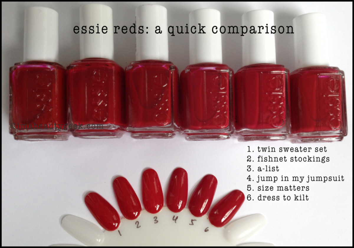 Essie Red Comparison Swatches