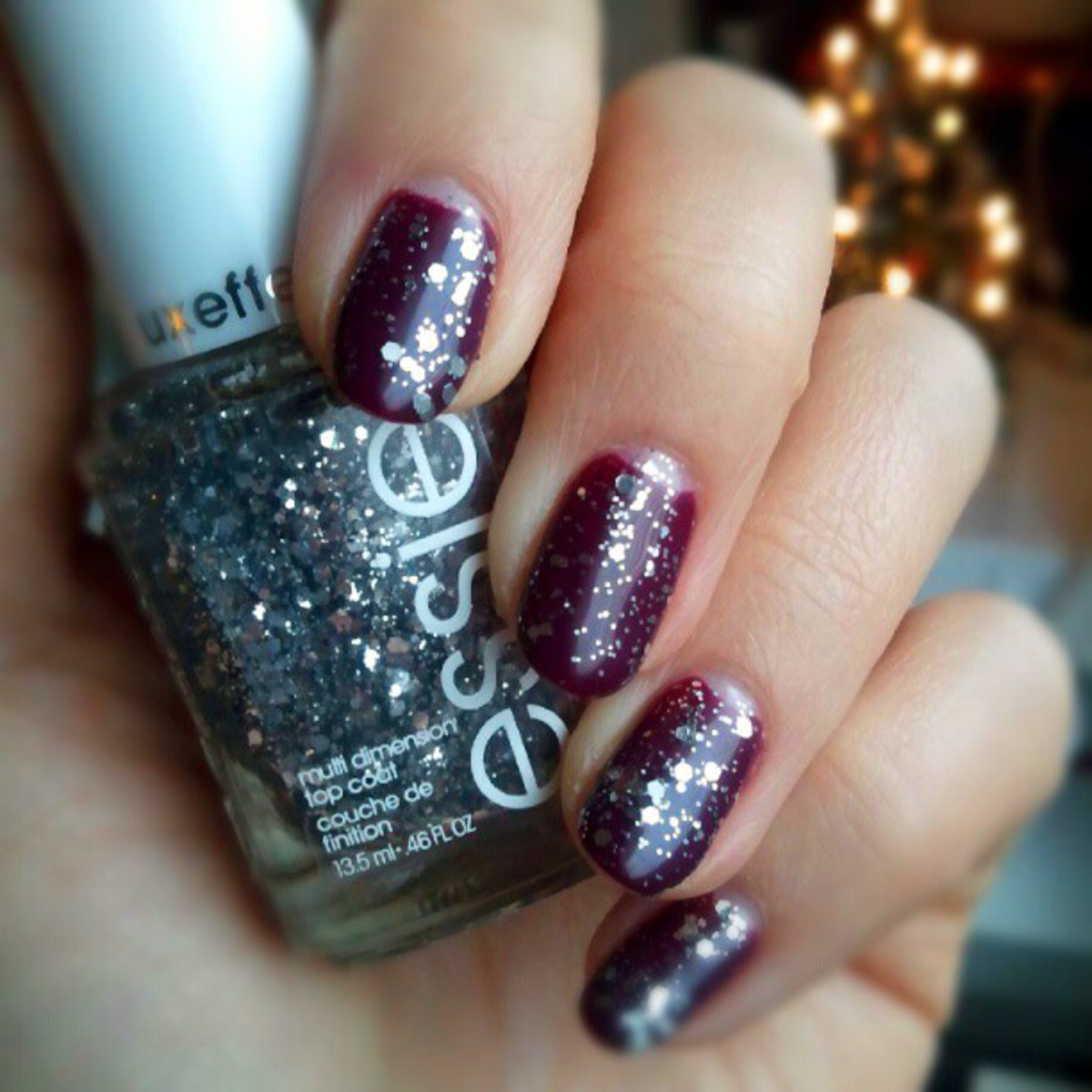 Artistic Colour Gloss in Majestic_Essie Luxeffects Top Coat in Set in Stones