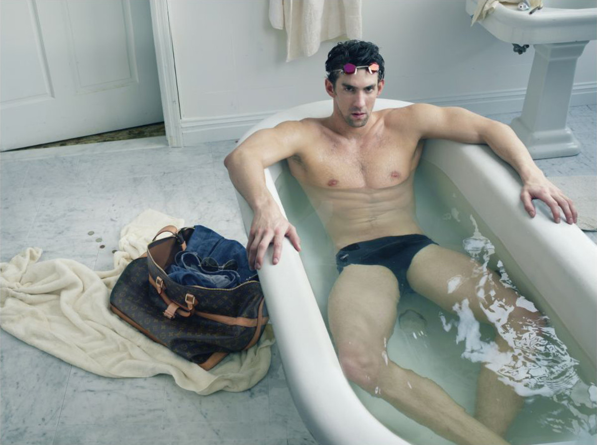 Michael Phelps for Vuitton_bathtub
