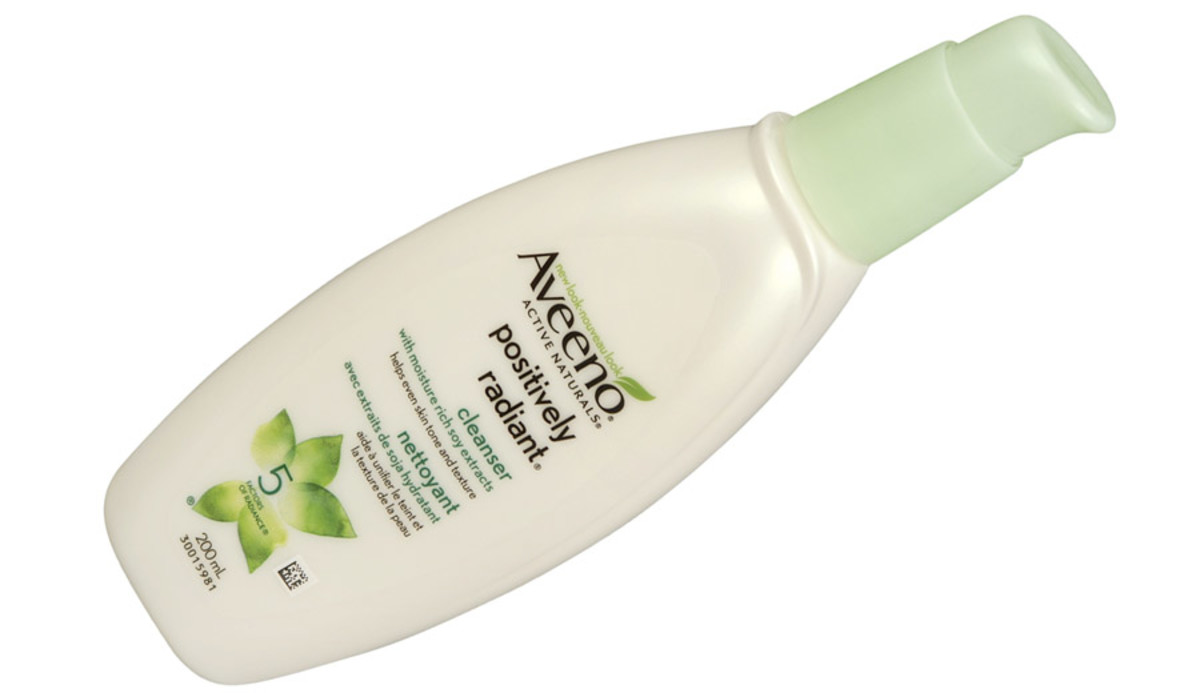 Aveeno Active Naturals Positively Radiant Cleanser: gentle, with a rich texture