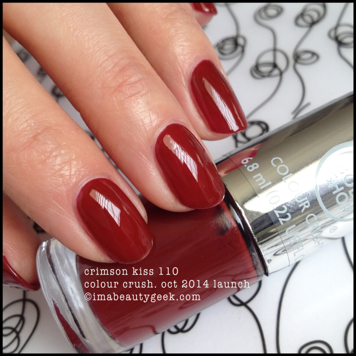 Body Shop Crimson Kiss 110 Colour Crush Polish
