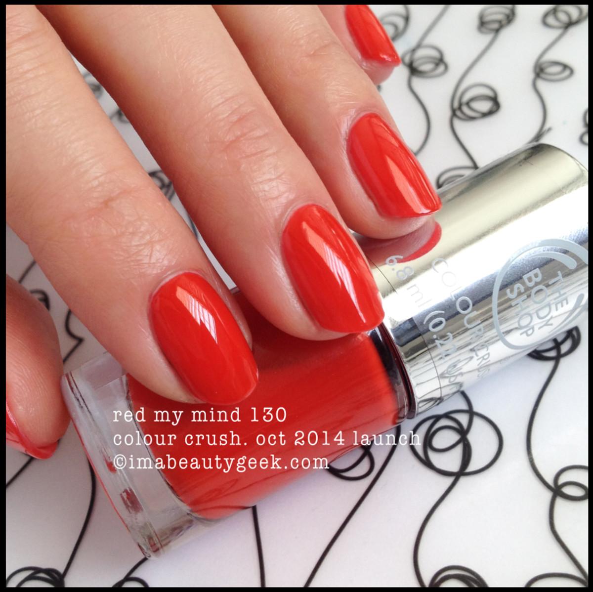 Body Shop Red My Mind 130 Colour Crush Polish
