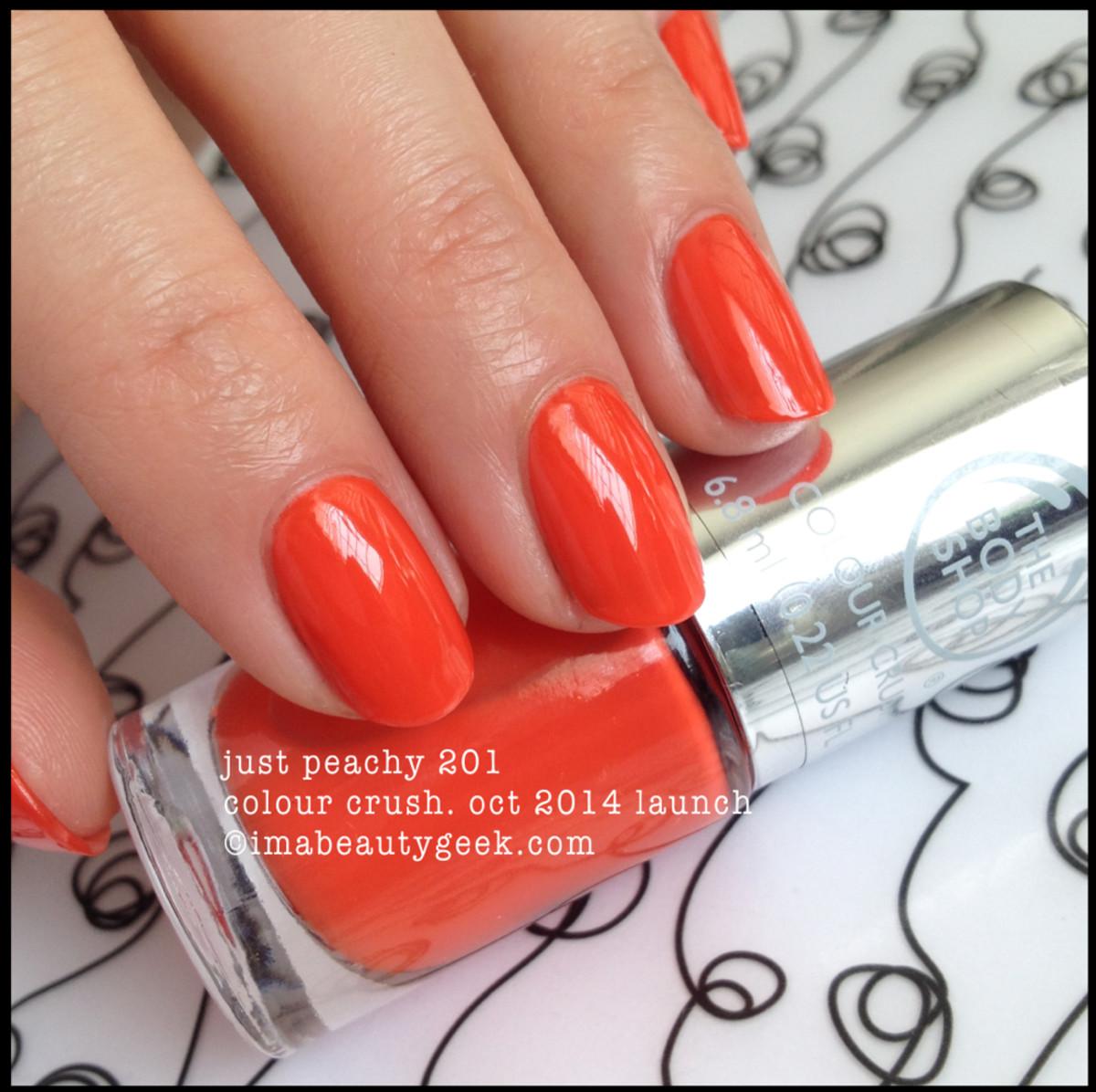 Body Shop Polish Just Peachy 201 Colour Crush