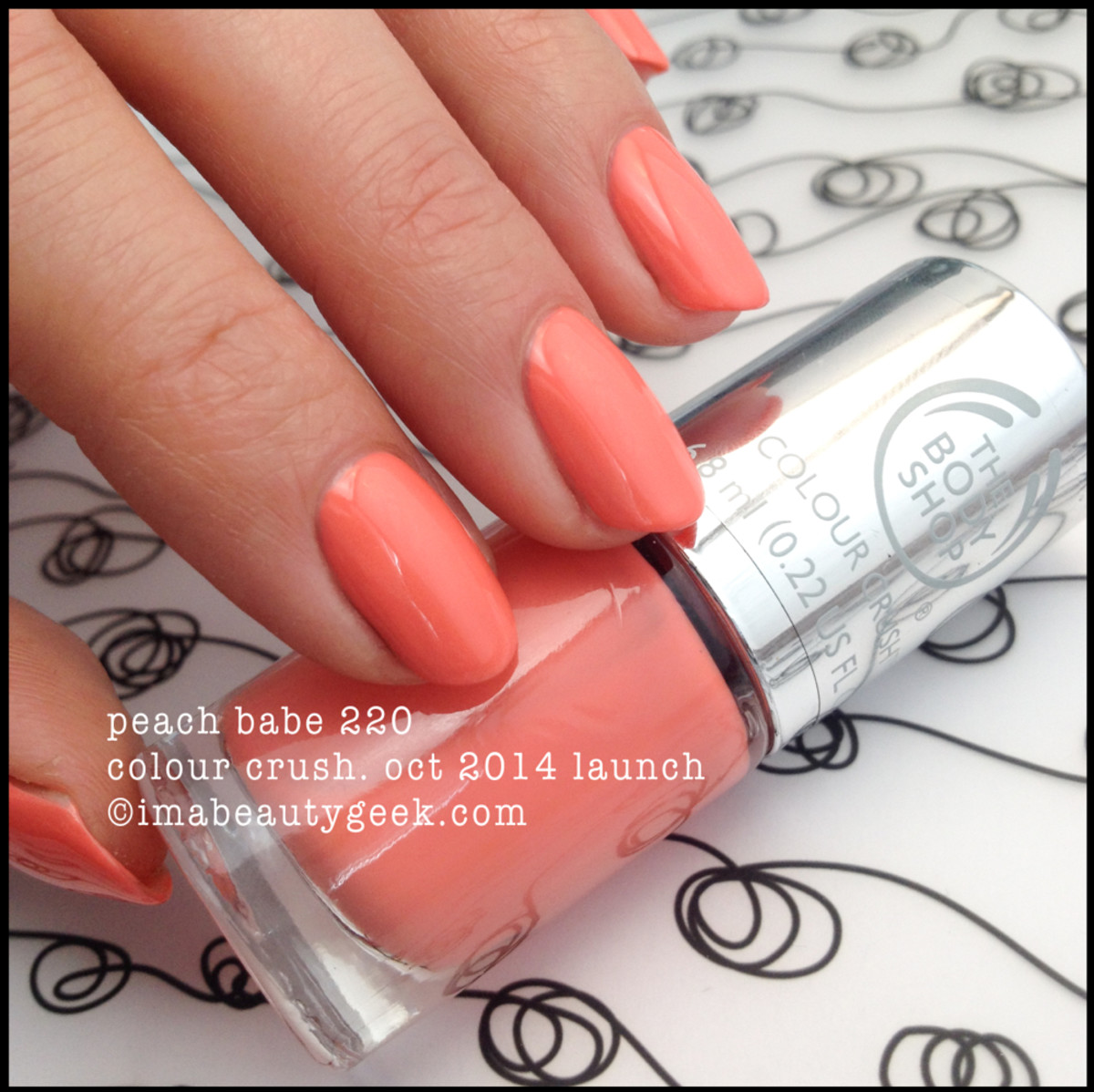 Body Shop Colour Crush Peach Babe 220 Fall 2014 Beautygeeks