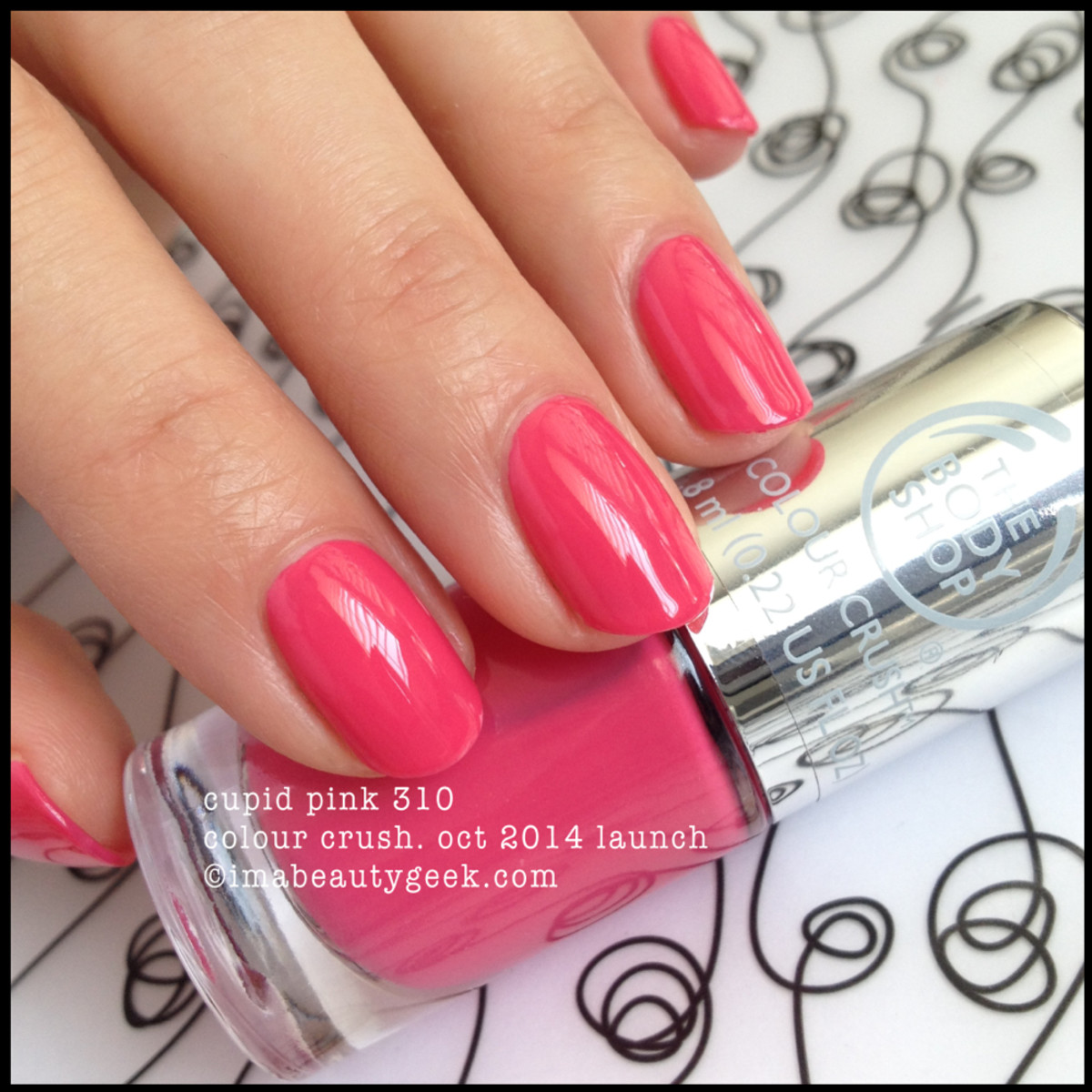 Body Shop Colour Crush Cupid Pink 310 Polish