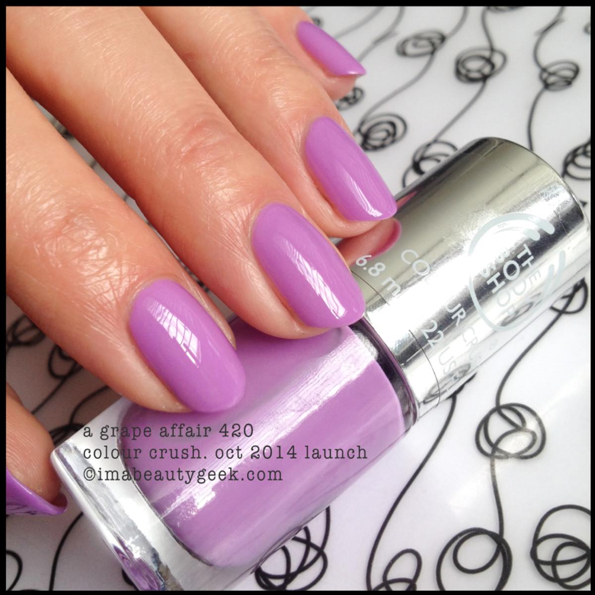 Body Shop A Grape Affair 420 Colour Crush Polish