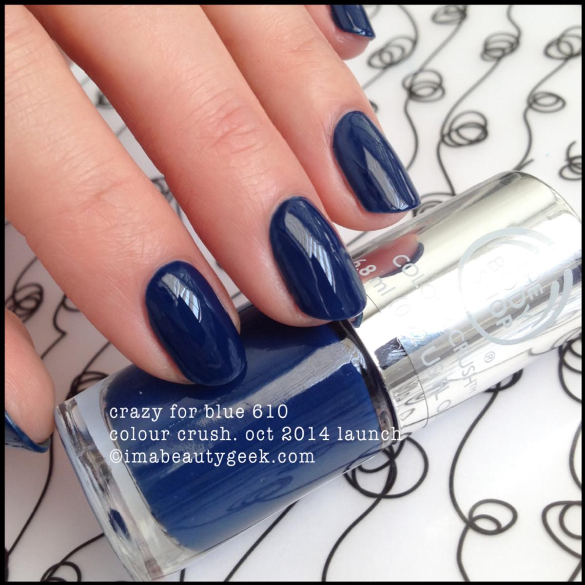 Body Shop Polish Crazy for Blue 610 Colour Crush