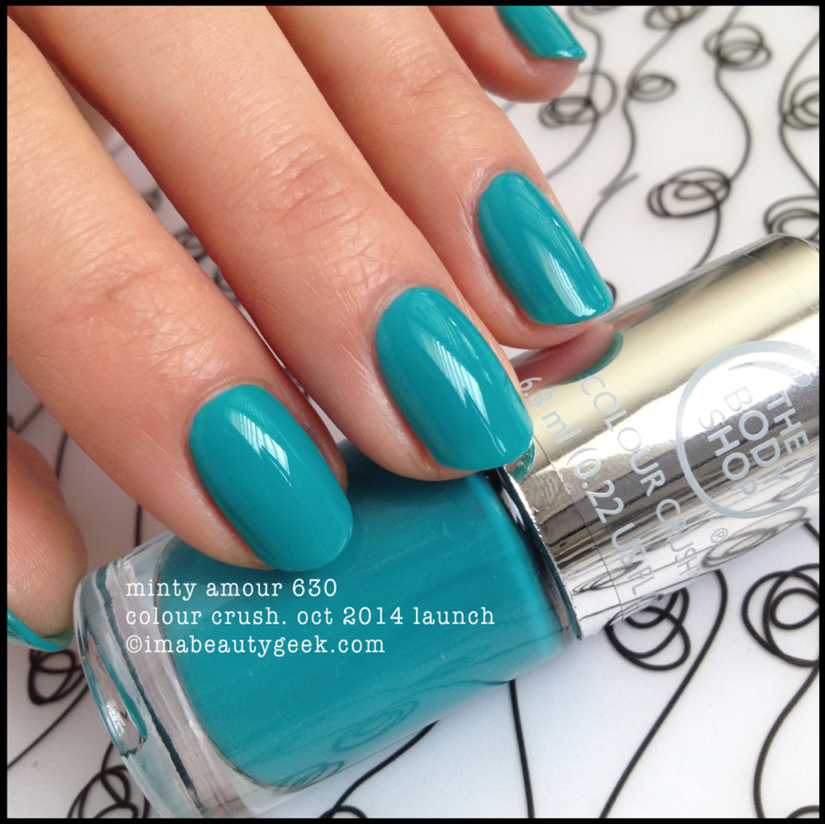 Body Shop Polish Minty Amour 630 Colour Crush