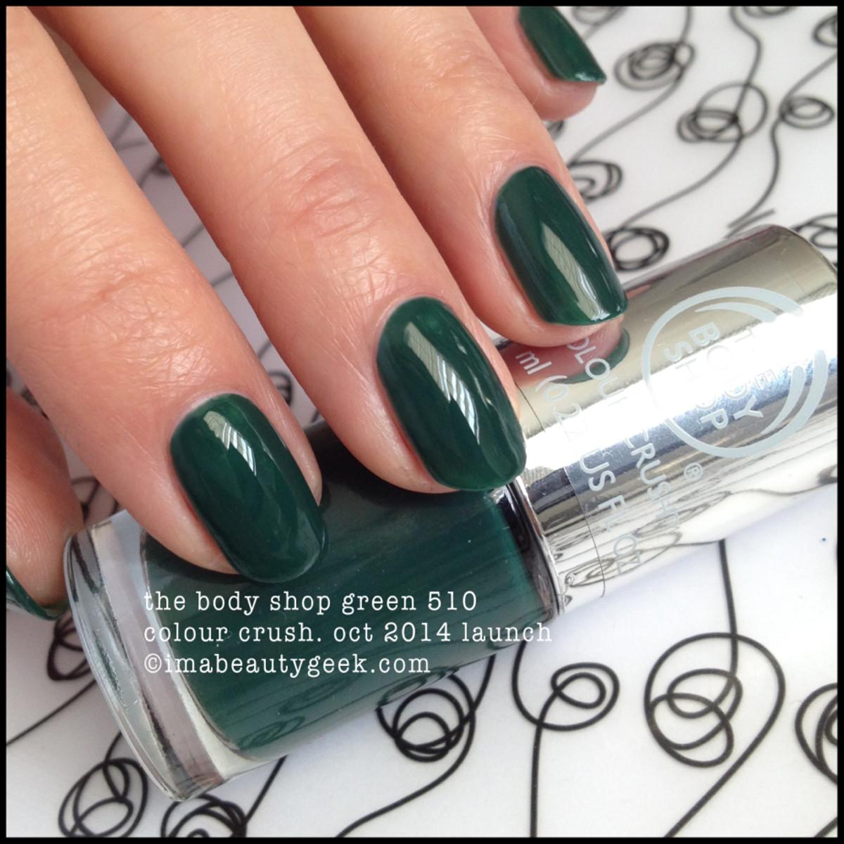 Body Shop Polish The Body Shop Green 510 Colour Crush
