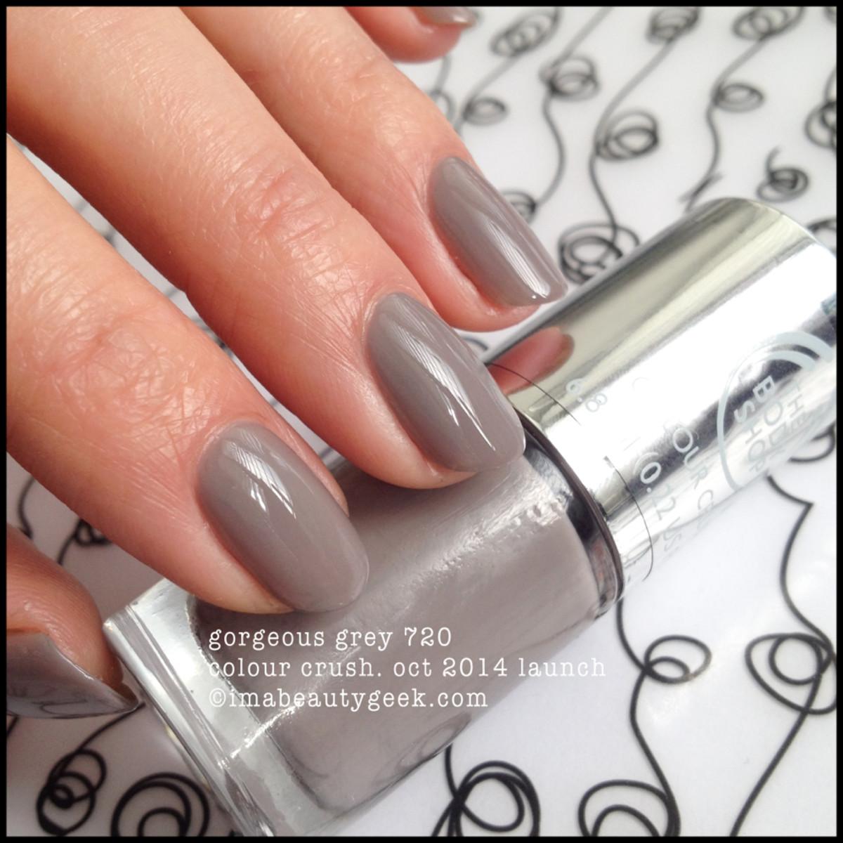 Body Shop Polish Gorgeous Grey 720 Colour Crush