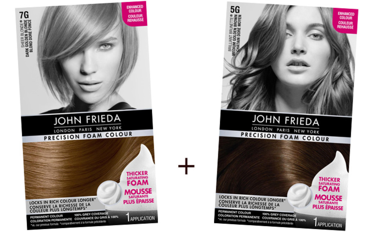 How to go from blonde to brunette with John Frieda