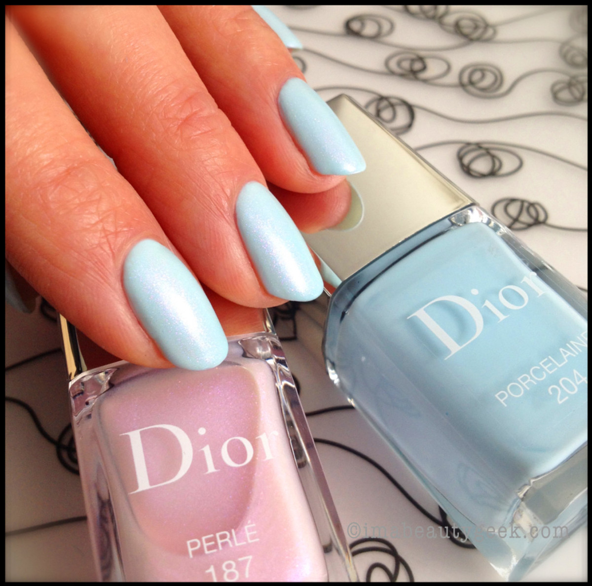 Dior Porcelain 204 with Perle 187_Dior Spring 2014 nails_Trianon edition